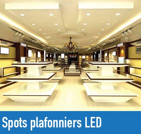 Spots plafonniers led